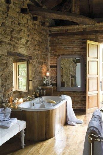 Koupelna zdi z kamene - Lavabos de piedra rusticos ...