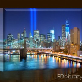 LED obraz World Trade Center New York 45x30 cm