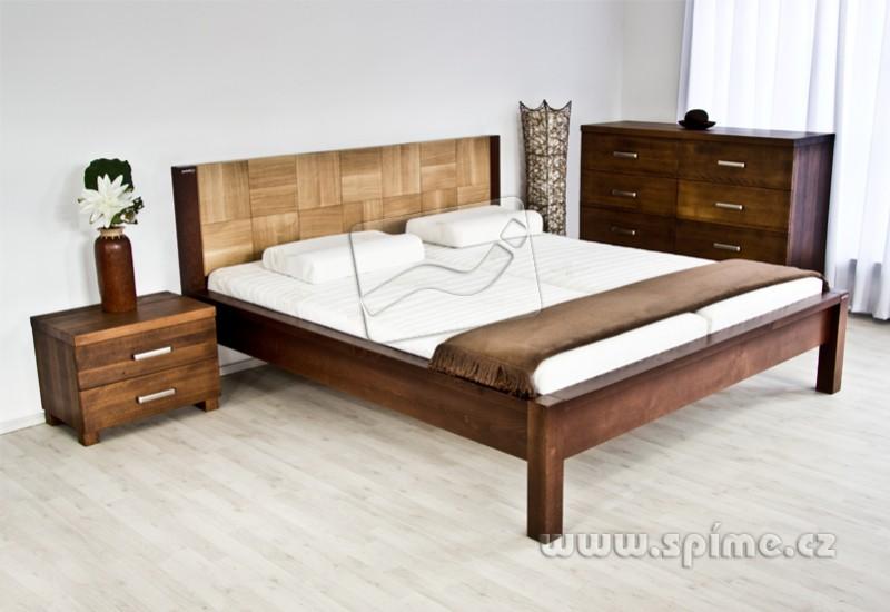 d15df330ab16 Dřevěná postel z masivu VARIO manželské dvoulůžko