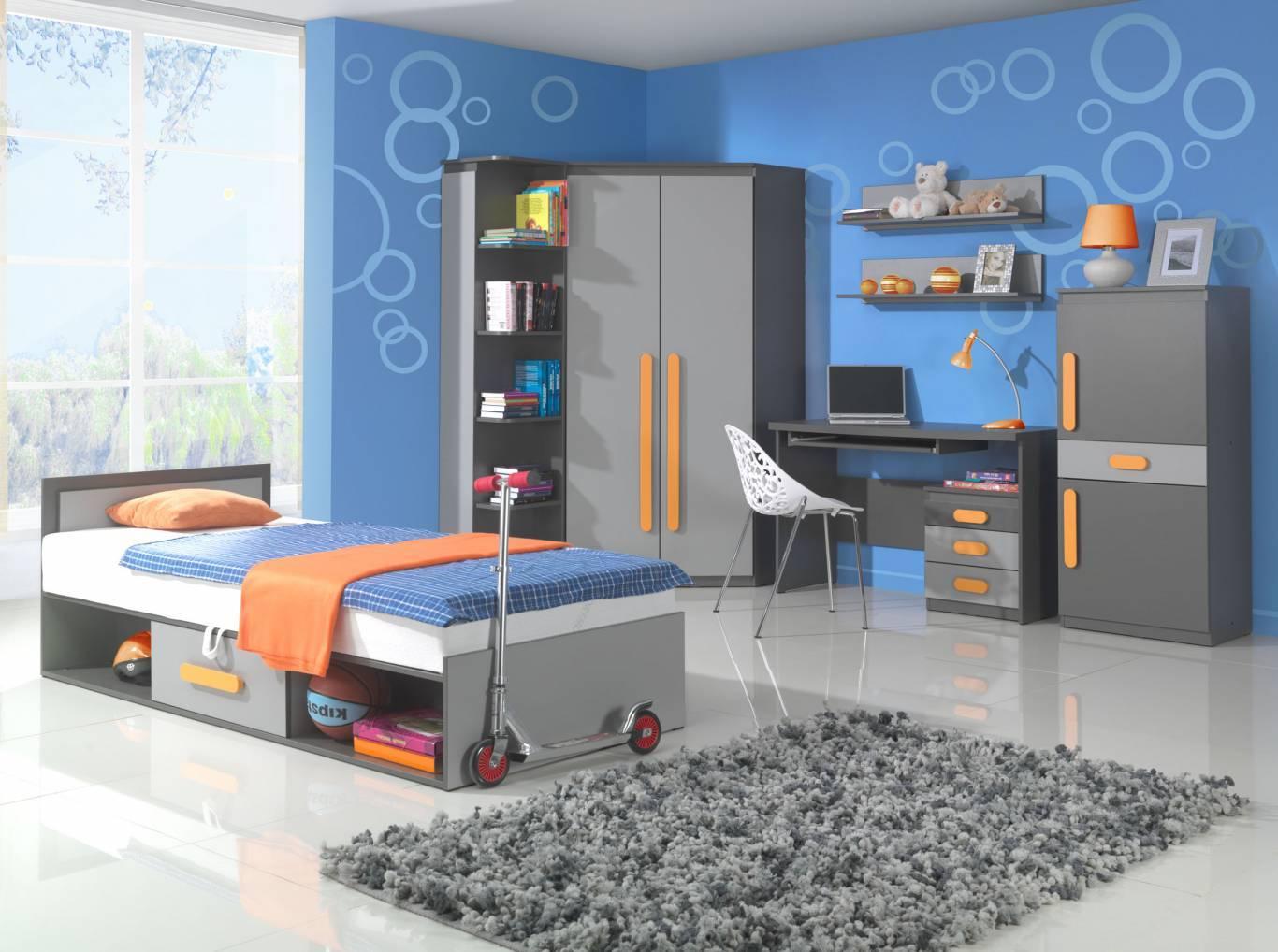 ed n bytek do d tsk ho pokoje s v razn mi oran ov mi. Black Bedroom Furniture Sets. Home Design Ideas