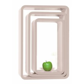 Regál Lounge Cube Oval white (3/Set) KARE