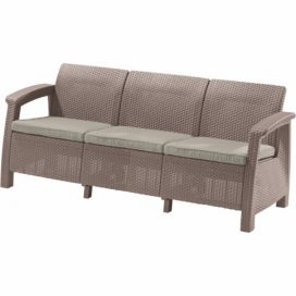 CORFU LOVE SEAT MAX - cappuchino Allibert