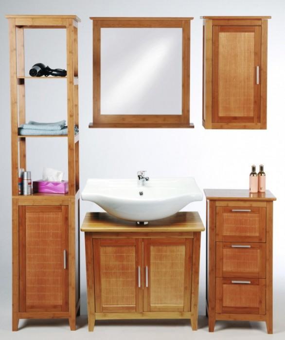 Bambus Set Koupelnový Nábytek Koupelnový Nábytek