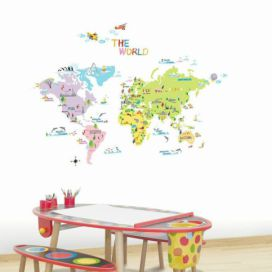 Sada samolepek Ambiance World Map for Children Bonami.cz