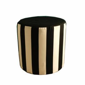 Taburet Black Strips Homedesign-shop.com