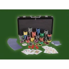 MAX 2643 Poker set 300 ks žetonů BLACK EDITION 1 - 1000