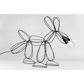 Stolní lampa Dog Wire Black