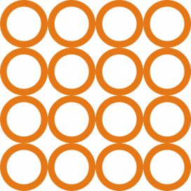 Tapety Rings circles Orange Homedesign-shop.com
