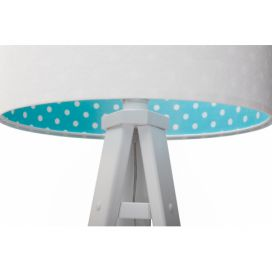 Svítidlo White/Blue with Dots stojací Homedesign-shop.com