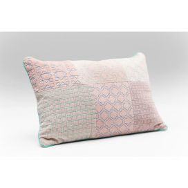 Cushion Patchwork Bright Pink 25x40cm KARE