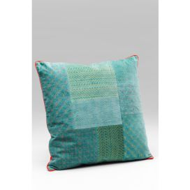 Cushion Patchwork Bright Turquoise 50x50cm KARE