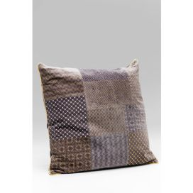 Cushion Patchwork Bright Grey 60x60cm KARE
