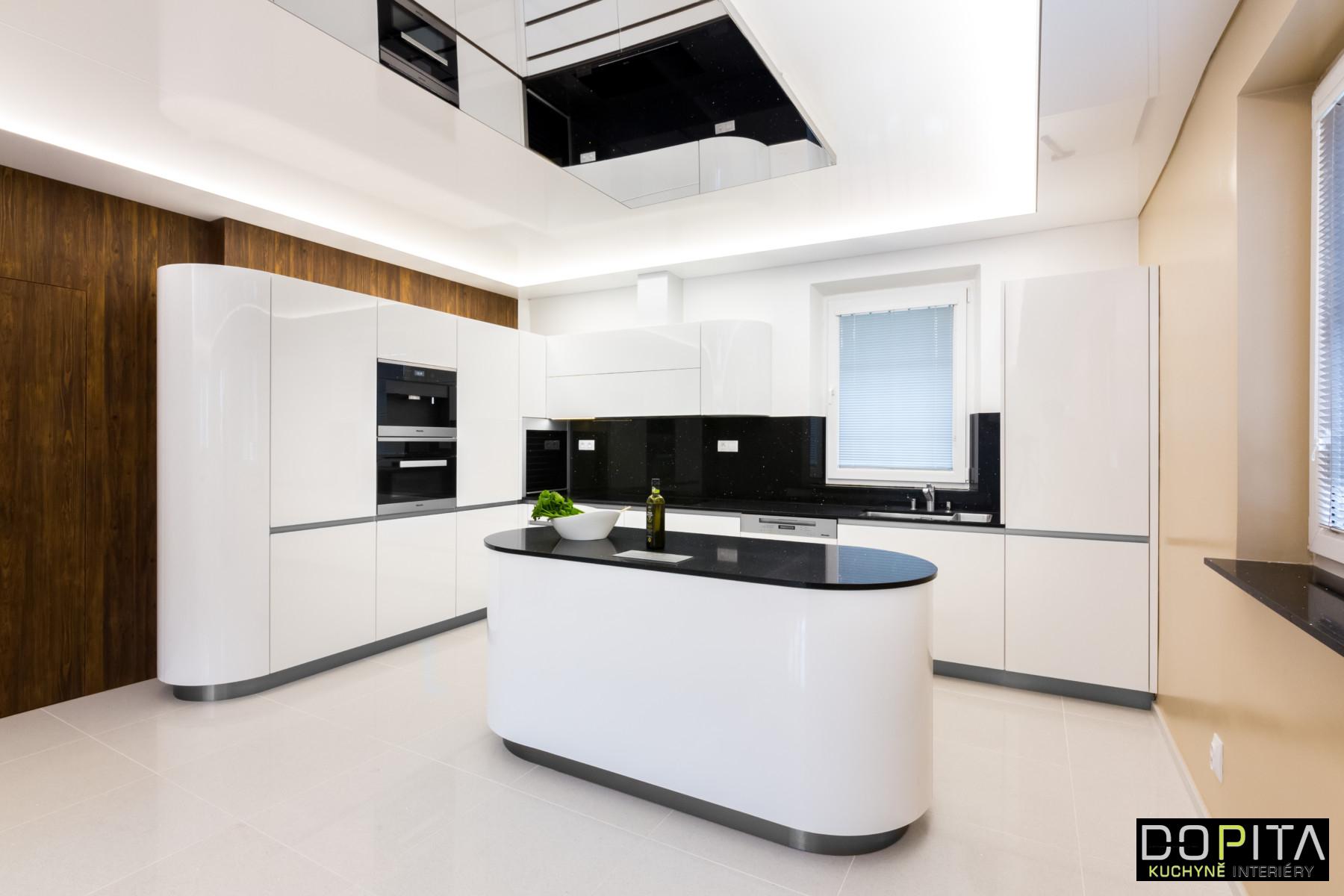 Moderní oválný kuchyňský ostrůvek - DOPITA studio 8832564d6e