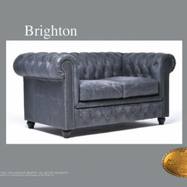 Chesterfield Brighton 2 Vintage, Pohovka 2 místná  Chesterfield Showroom