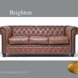 Chesterfield Brighton 3 Vintage, Pohovka 3 místná  Chesterfield Showroom