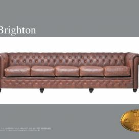 Chesterfield Brighton 5 Vintage, Pohovka 5 místná  Chesterfield Showroom