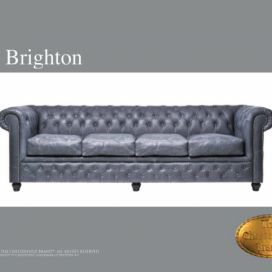 Chesterfield Brighton 4 Vintage, Pohovka 4 místná  Chesterfield Showroom