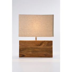 Stolní lampa Rectangluar Wood Nature KARE