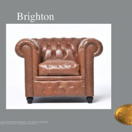 Chesterfield Brighton 1 Vintage, Křeslo Chesterfield Showroom