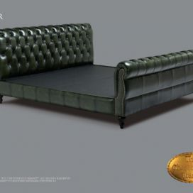 Chesterfield Lester bed 140x200, Postel Chesterfield Showroom
