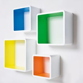 Lounge Cube MDF Square Colore (4/Set) KARE