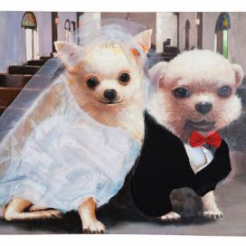 Olejomalba Wedding Dogs 80x100cm KARE