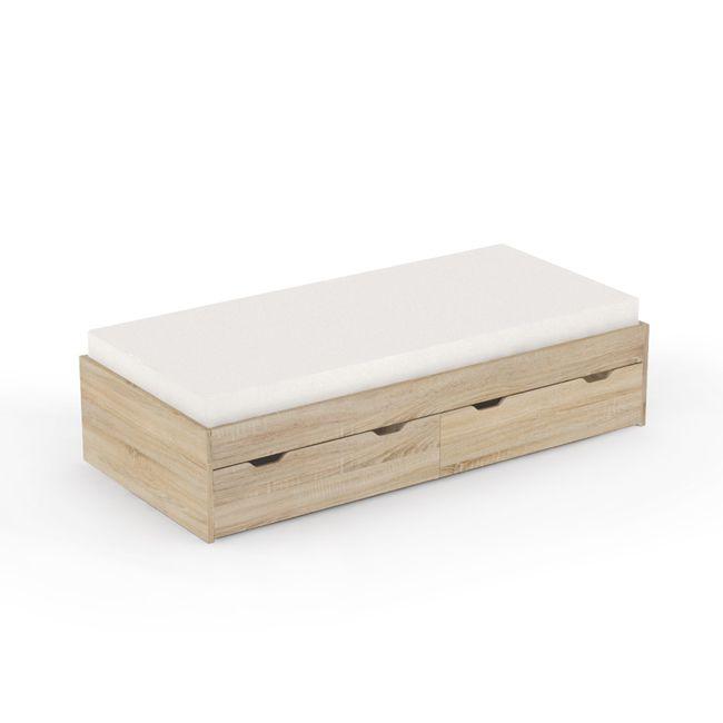 5b4ddac24822 ... Dětská postel s úložným prostorem REA Misty 90x200cm - buk