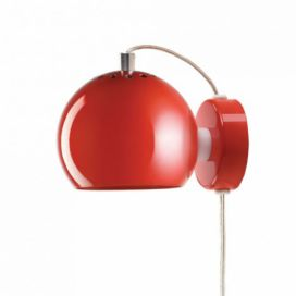 Frandsen lighting Ball red glossy, nástěnná Alhambra | design studio