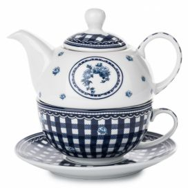 Home Elements čajový set porcelán Elegant blue třídílný 0,34 l + 0,4 l moderninakup.cz