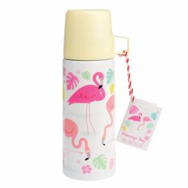 Termoska s hrnkem Rex London Flamingo Bay, 350 ml