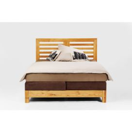 Attento Postel Boxspring Step Brown 160x200cm KARE