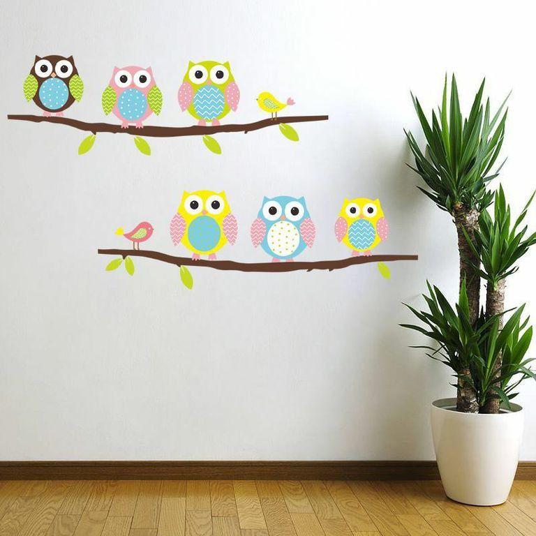 Sada samolepek Ambiance Owls and Birds on Tree Inhaus.cz