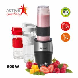 Smoothie maker Active Smoothie 500 W 2 x 570 ml + 400 ml Concept SM3385 černá