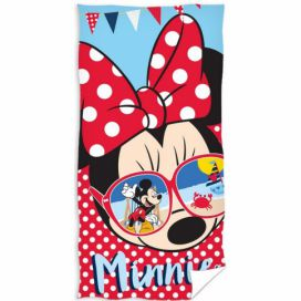TipTrade Osuška Minnie Mouse glasses, 70 x 140 cm