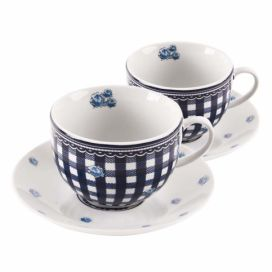 Home Elements porcelánová šapo sada Elegant blue 250 ml - modré kostky
