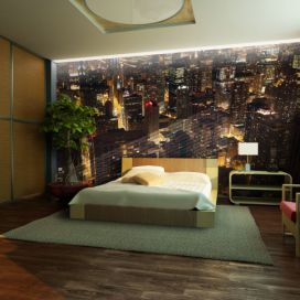 Bimago Fototapeta - City by night - Chicago, USA 200x154 cm GLIX DECO s.r.o.