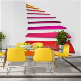 Fototapeta Bimago - Colorful stairs + lepidlo zdarma 400x280 cm