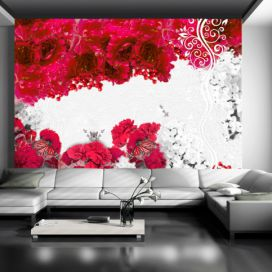 Bimago Fototapeta - Colors of spring: red 150x105 cm