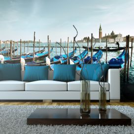 Bimago Fototapeta - Gondolas on the Grand Canal, Venice 550x270 cm,