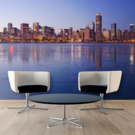 Bimago Fototapeta - Icy Downtown Chicago 200x154 cm GLIX DECO s.r.o.