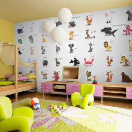 Bimago Fototapeta - Learning by playing (animals) 550x270 cm,