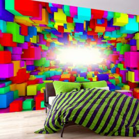 Bimago Fototapeta - Light In Color Geometry 350x245 cm GLIX DECO s.r.o.
