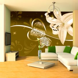 Bimago Fototapeta - Lily in shades of green 350x245 cm GLIX DECO s.r.o.