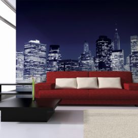 Fototapeta Bimago - Manhattan skyline at night, New York City + lepidlo zdarma 200x154 cm