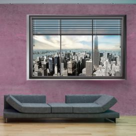 Bimago Fototapeta - New York window II 350x245 cm GLIX DECO s.r.o.