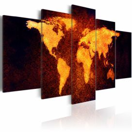 Obraz na plátně Bimago - Map of the World - Hot lava 100x50 cm GLIX DECO s.r.o.