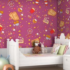 Bimago Tapeta - Movie Night - Girl role 50x1000 cm GLIX DECO s.r.o.