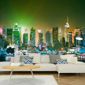 Bimago Fototapeta - NY: Enlightened Harbour 300x210 cm GLIX DECO s.r.o.
