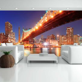 Bimago Fototapeta - Queensborough Bridge - New York 550x270 cm,