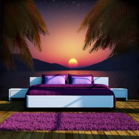 Bimago Fototapeta - Romantic evening on the beach 150x105 cm